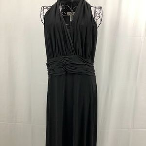 Evan-Picone black knit 'goddess' dress 14